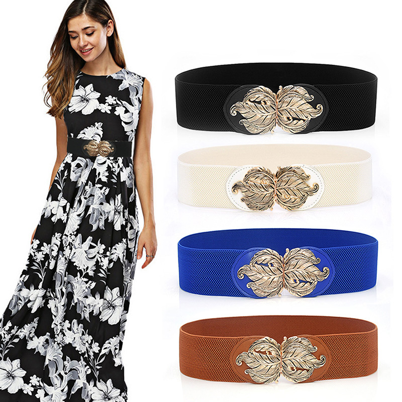 Designer Luxury Belt Women Elastic Wasit Belt Wide Stretch Wrap Waistband Buckle Belt Waist Band Cummerbunds Women