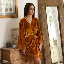 2021 бархатный халат теплый зимний для женщин невесты кимоно