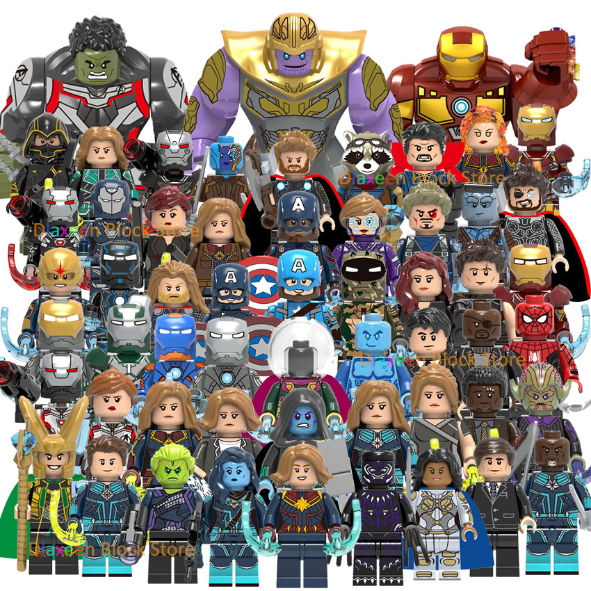 Super Heroes Legoinglys Avengers Endgame Figures Spider-man Iron Man Hulk Bricks Building Blocks Sets Marvel Toys For Children
