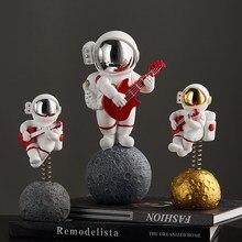 Astronauta spaceman criativo estátua astronauta estatueta abstrata escultura escritório em casa decoração de mesa ornamento presentes aniversário