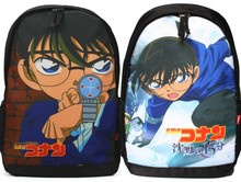 Anime Detective Conan Cosplay Case Closed School Bag Satchel Teenagers Travel Laptop Bags Black Backpack New Rucksack Men Gifts(China)
