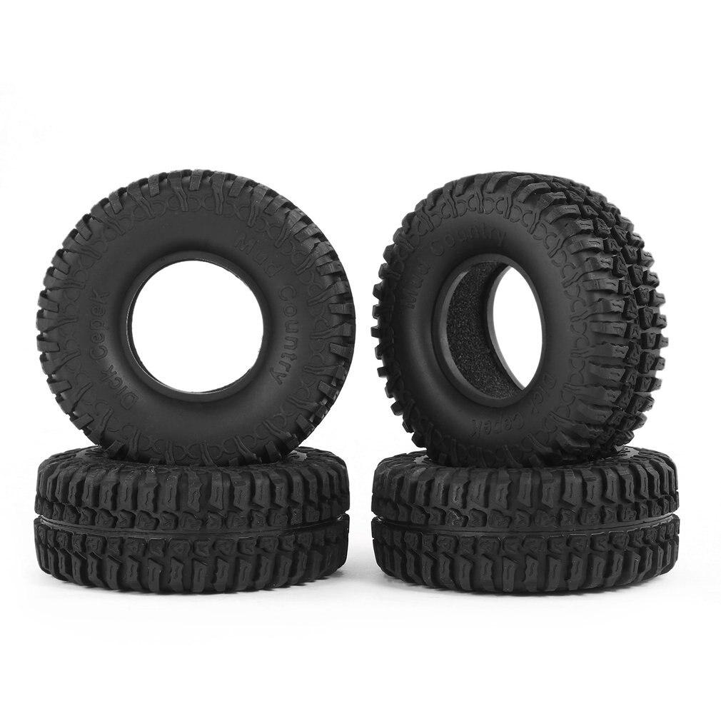 Hot! 4pcs 3020 1.9inch Rubber Tires Tyre Set for RC 4WD D90 CC01 1/10 Rock Crawler Climbing Car Off-Road Parts&Accs