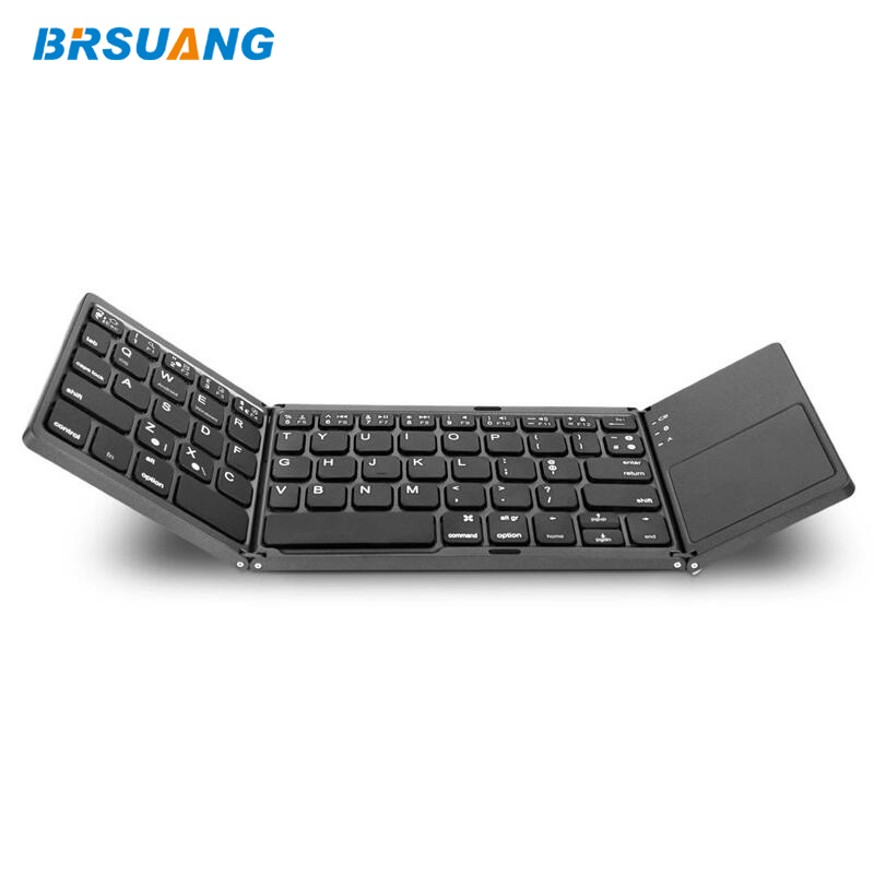 BRSUANG Foldable Phone iPad Bluetooth Touchpad Mini Wireless-Keypad Android with