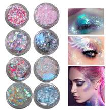 20 Kleuren Eye Pailletten Waterdichte Langdurige Glitter Eye Make Stickers Tear Mollen Stickers Liefde Sterren Stickers Gel Crème tslm(China)