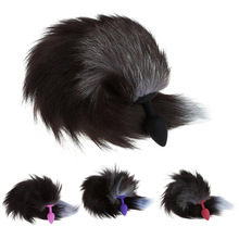 New Funny Love Faux Fox Tail Butt Anal Plug Sexy Romance Sex Adult Games Toys стоимость