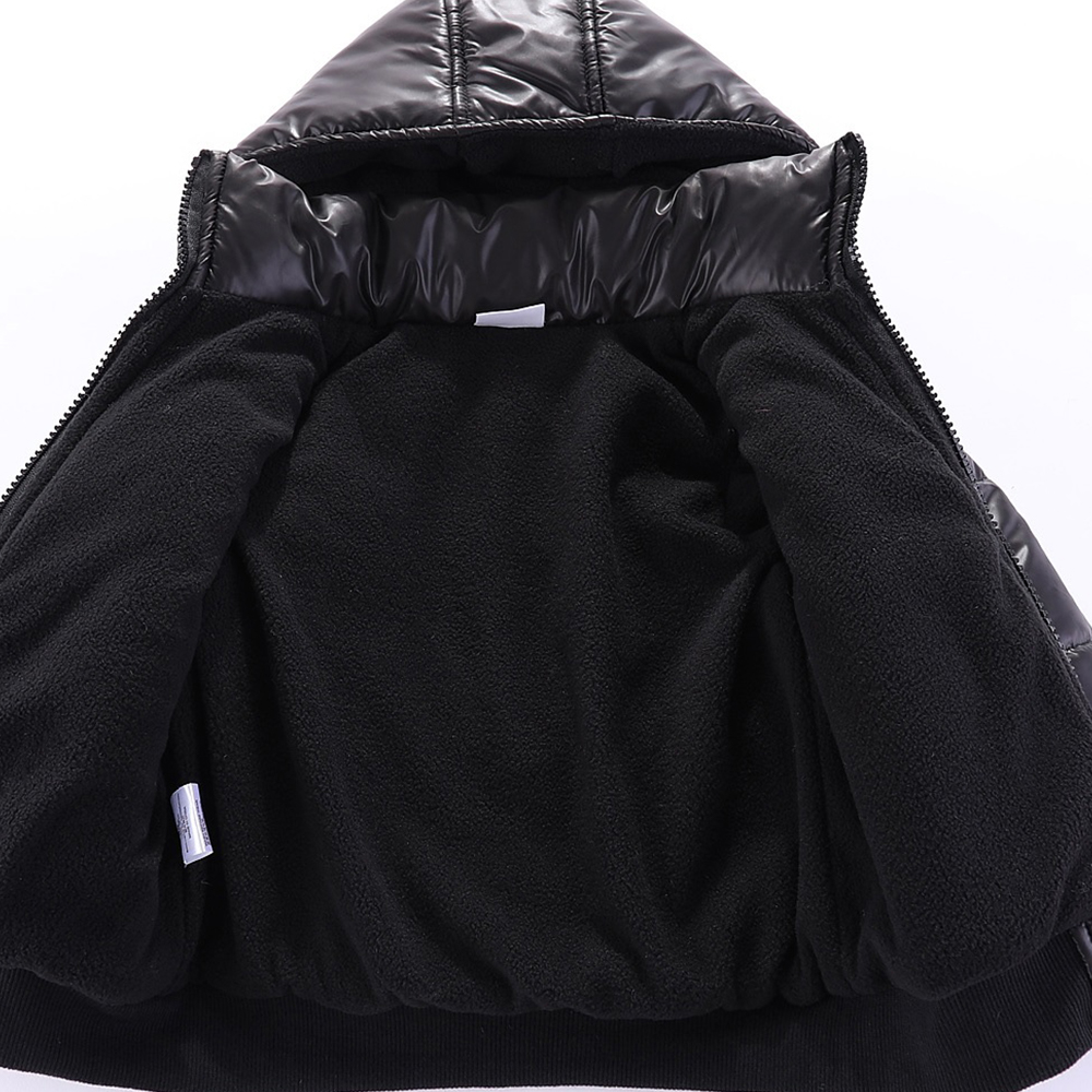 Mudkingdom Baby Boys Winter Jacket Solid Hooded Detachable Windproof Kids Warm Cotton Padded Coat 6