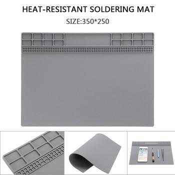 35x25cm Silicone Soldering Mat Magnetic Insulation Repair Pad For Welding Heat Resistant Soldering Repair Tool