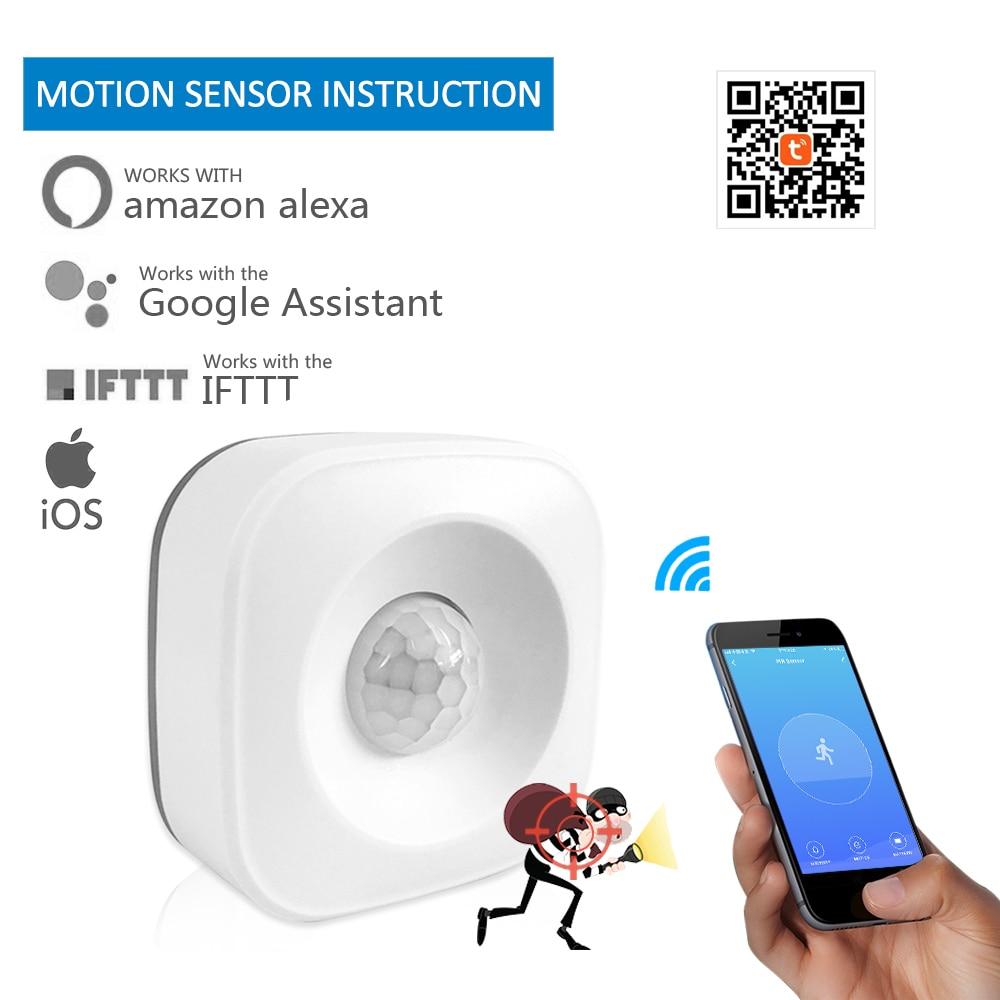 Tuya WI-FI de casa Inteligente PIR Sensor de Movimento Detector Infravermelho Passivo Sem Fio inteligente de Segurança do Alarme de Assaltante Do Sensor Tuya APP NOVO