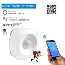 tuya Smart home WIFI PIR Motion Sensor intelligent Wireless Passive Infrared Detector Security Burglar Alarm Sensor Tuya APP NEW цена