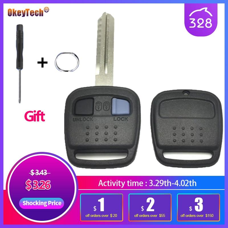 OkeyTech чехол для автомобильного ключа с дистанционным управлением, брелок для автомобиля Nisasn, 2 кнопки, запасной Автомобильный ключ, пустой че...