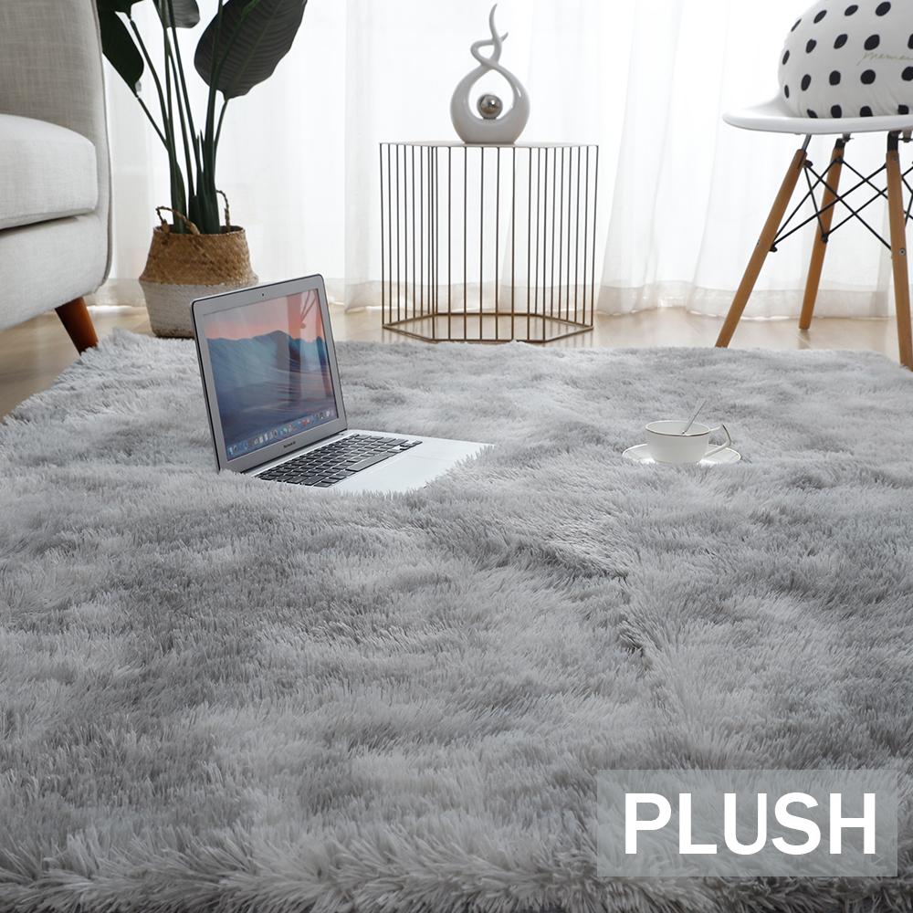 Plush Carpet Bedroom Fluffy Rug Anti slip Blanket Carpets for Living Room Thick Tie Dyeing rugs Home Velvet Kids Bed Room Mat