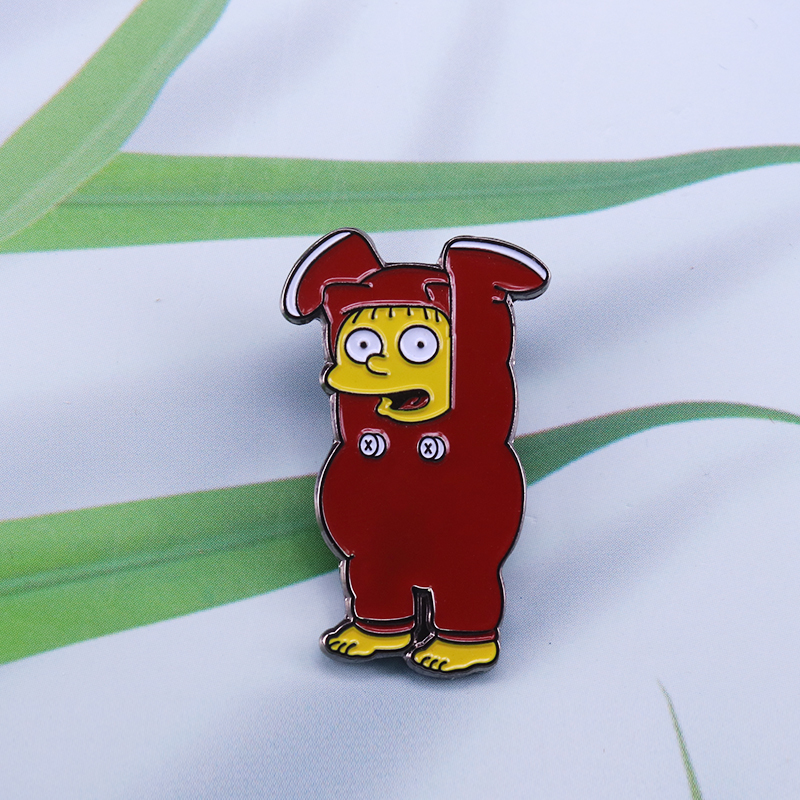 Ralph Wiggum I Dress Myself Enamel Pin cute cartoon Character brooch funny kids gift