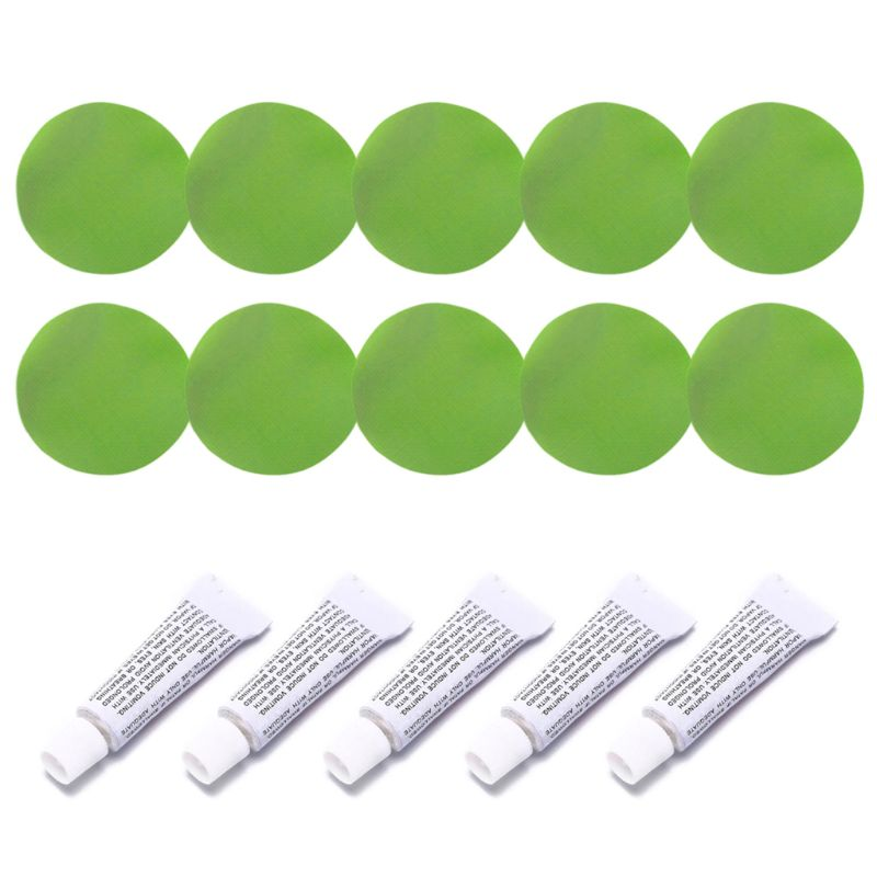 5 Sets Professional Inflatable Boat Repair Kit PVC Material Adhesive Patches Glue for Waterbed Sofa Air Matteress Swimming Pool