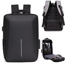 Men's Reflective Strip Multifunctional Anti theft Backpack 15.6 Inch Laptop Notebook USB Travel Bag Rucksack School Bag For Male