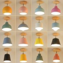 Moderna lámpara Led de techo, luz industrial nórdica para techo, montaje empotrado, pasillo, escalera, cocina, porche, salón, lámparas de habitación E27