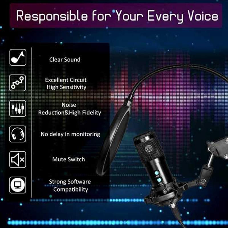 Kit de microfone, pacote de microfone podcast