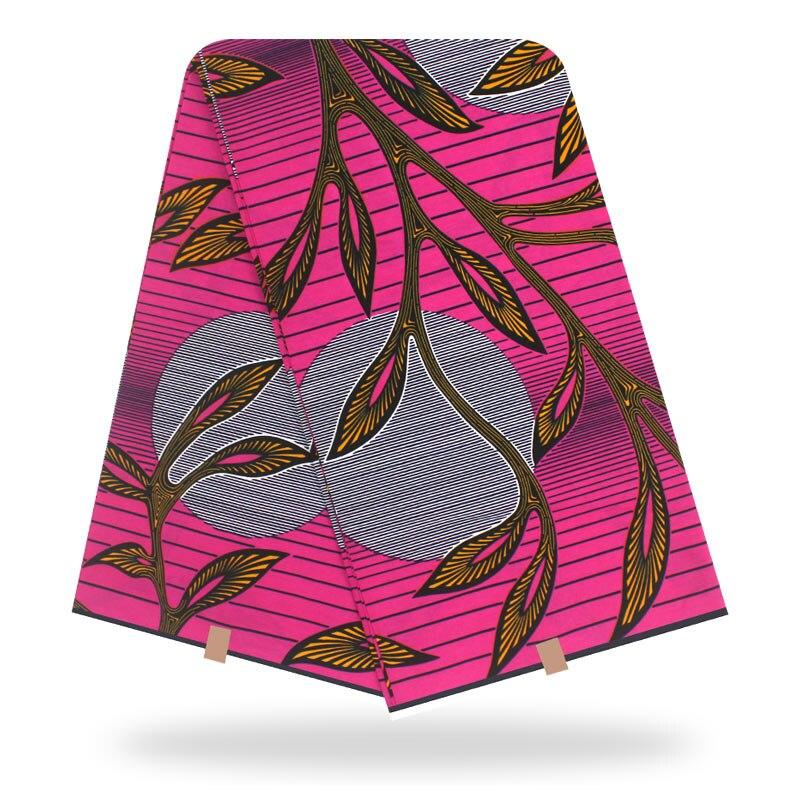 Dashikiage African Ankara Veritable Real Dutch Wax Floral Print Fabric 100% Cotton Nederlands Real Wax Soft Fabric 6 Yards\Set