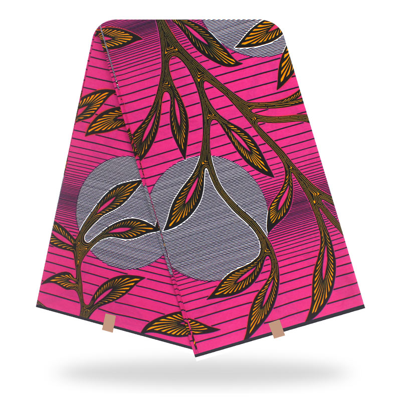 Dashikiage African Ankara Veritable Real Wax Floral Print Fabric 100% Cotton Nederlands Real Wax Soft Fabric 6 Yards\Set