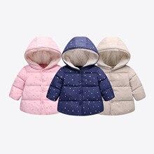 Jacket Baby-Girl Coat Winter Boy Hooded Print 6months-5years Veste Outerwear Enfant Garon