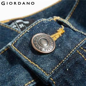Image 5 - Giordano męskie dżinsy dżinsy elastyczne Mid Rise wąskie stopy jakości bawełniane dżinsy Pantalones Whiskering odzież dżinsowa
