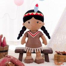 Gloveleya Doll Stuffed Baby Toys Tribal Girl Dolls Soft Plush Toy Baby Girl Birthday Christmas Gifts First Baby Girl Cloth Doll