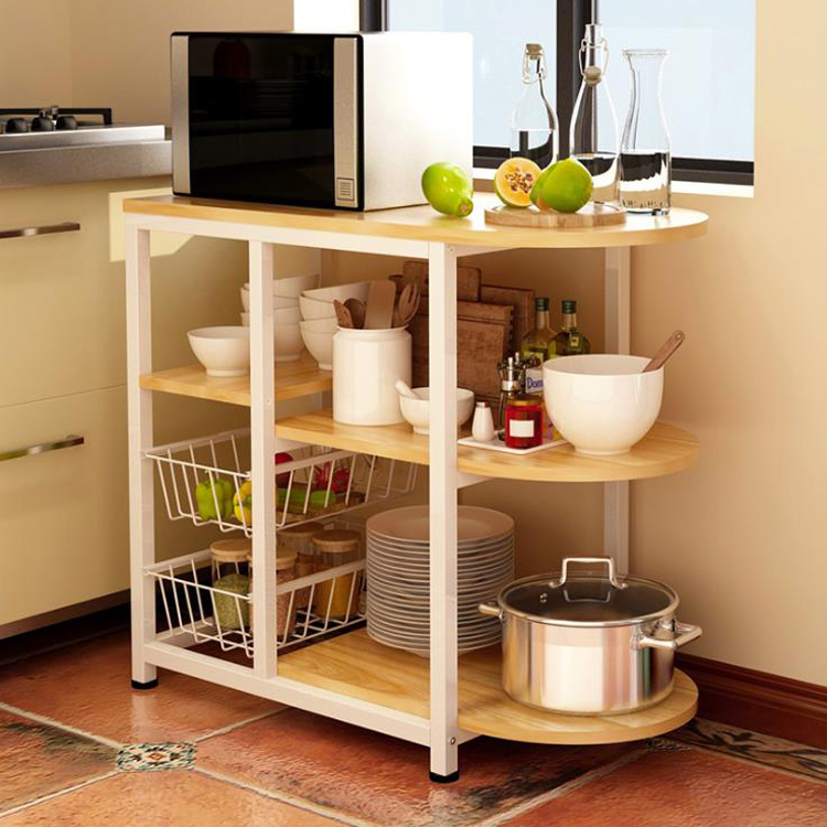 US $28.38 20% OFF|Dining table Kitchen Storage Shelf Storage Shelf  Microwave Stand Multi layer shelves Multifunctional shelves Racks saves  space on ...