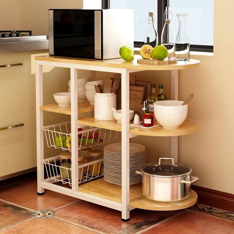 Dining Table Kitchen Storage Shelf Storage Shelf Microwave Stand Multi-layer Shelves Multifunctional Shelves Racks Saves Space