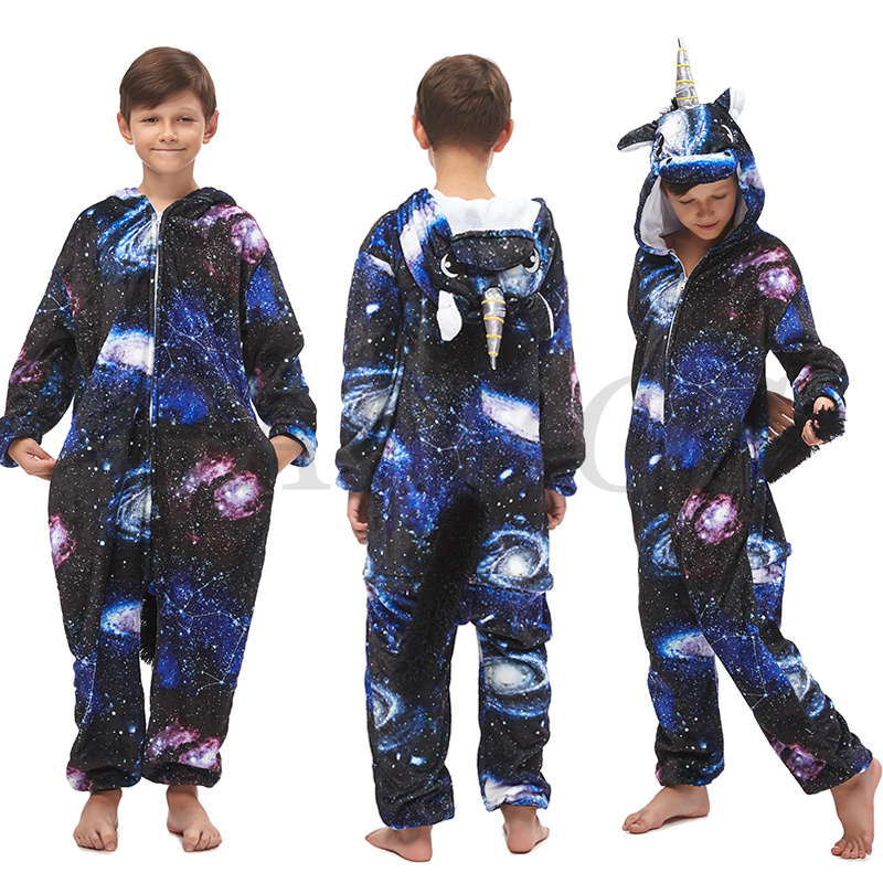 Kigurumi Kids Pajamas Unicorn Sleepwear For Children Animal Cartoon Blanket Costume Winter Boys Girls Licorne Onesies Jumpsuits