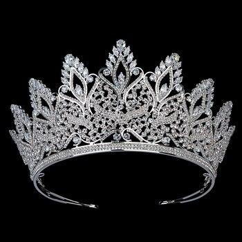 Tiaras and Crown HADIYANA Vintage Trendy Women Jewelry Crown Bridal Wedding Hair Accessories Cubic Zircon BC5800 Corona Princesa