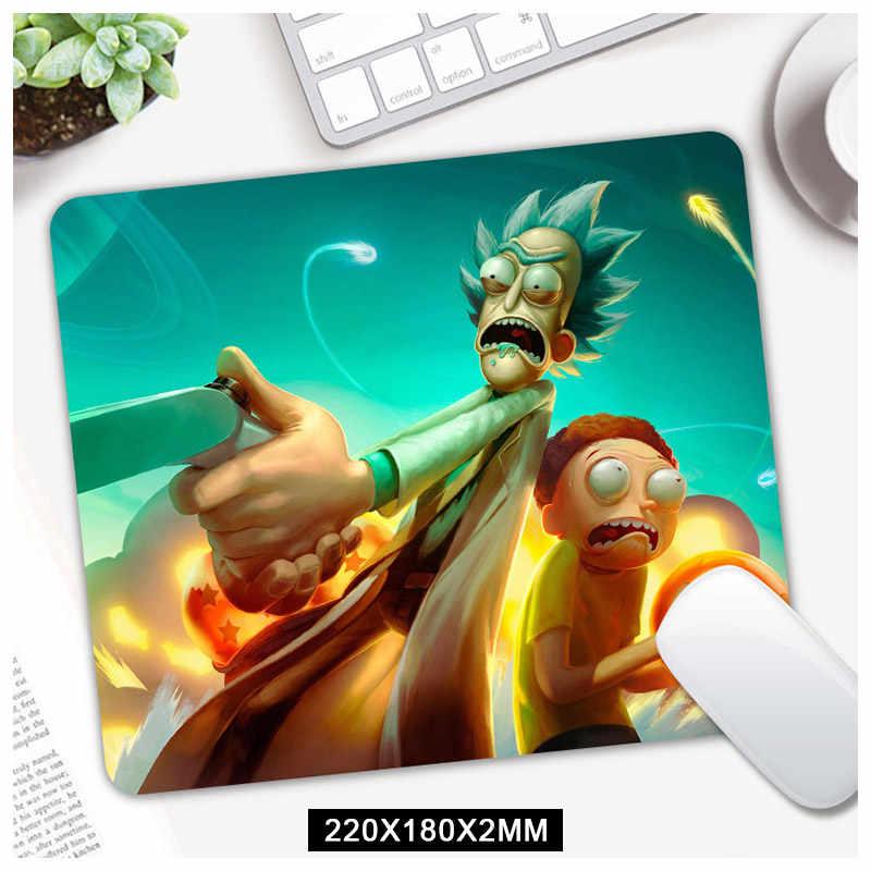 Dibujos Animados Rick y Morty Mouse Gaming Mouse Pad Gamer ordenador alfombrilla de ratón teclado ratón Anime