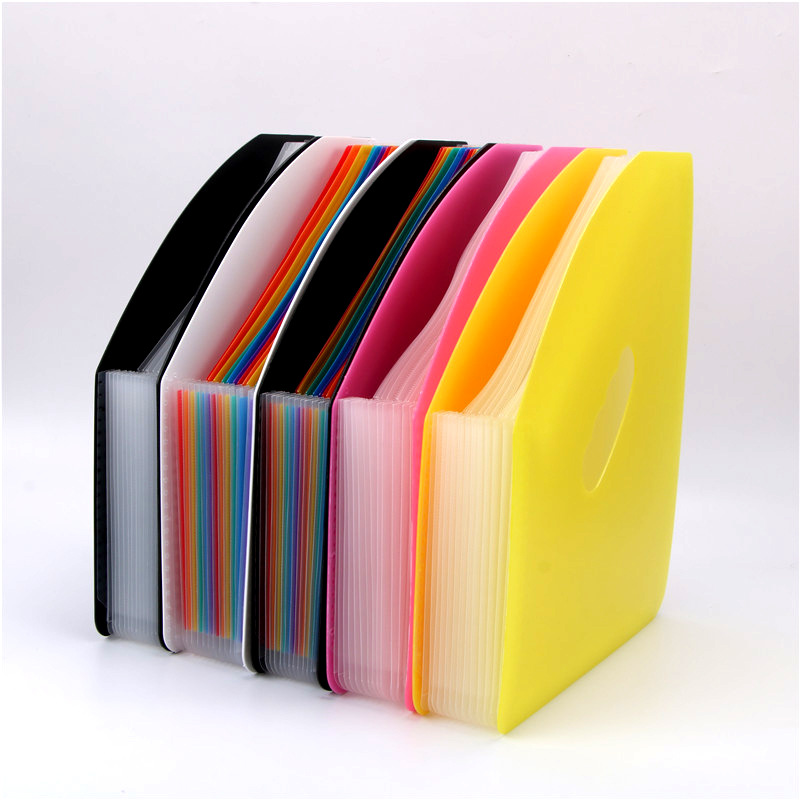 Erectable Expanding Wallet Rainbow Folder Document Manager Folder Assistance Office 12-Grid Pack File Folder A4