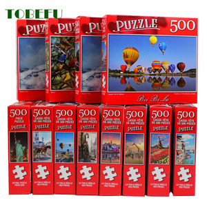 TOBEFU 500pcs Jigsaw Puzzle Decompression Assembling Picture Landscape Puzzles Toy for Adult Children Kids Game Educational Toys
