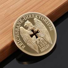 German Imperial Bank Gold-plated Commemorative Coins Germany Cross Eagle Challenges Coin Collectibles(China)