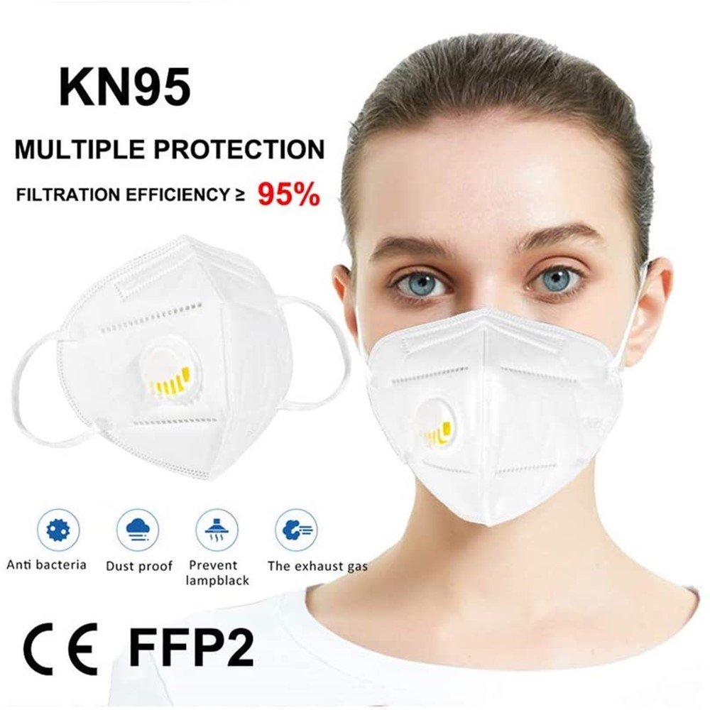 KN95 With Breathing Valve Dust Men Women Mask Anti Pollution Air Filter Protective Ffp3 N95 Masks Respirator For Mouth