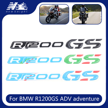 For BMW R1200GS ADV adventure Motorcycle Trunk Luggage Aluminum Case Panel 3D Stickers Decal Protector Fairing Emblem Accessorie image