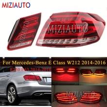 Arka kuyruk lambası mercedes benz E sınıfı W212 E200 E240 E260 E280 E300 2014 2016 kuyruk dur fren lambaları arka sis reflektör lambası