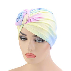 Image 2 - Tặng Băng Đô Cài Tóc Turban Gọng Mũ Lưỡi Trai Nữ Hóa Trị Nón Hồi Giáo Bông Xếp Ly Khăn Trùm Đầu Nón Nữ Turbans Hồi Giáo Mũ Bonnet Tóc Có