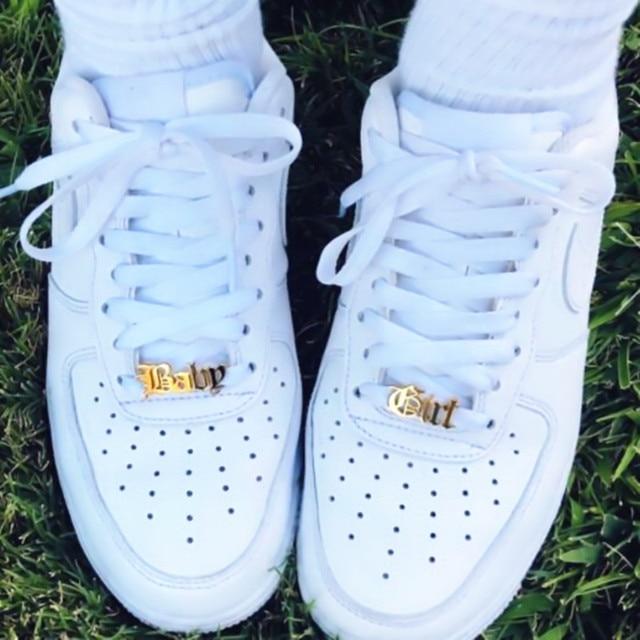 Baby Girl Shoe Tag Stainless Steel Shoe Accessories Custom Name Shoe-buckle Boho Jewelry Kpop Personalized Nameplate Buckie Kids