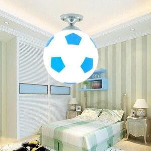 Image 4 - Children Balcony Sport Glass Indoor Coffee Bar For Boys Lighting Fixture LED Light Kids Room Football Shape