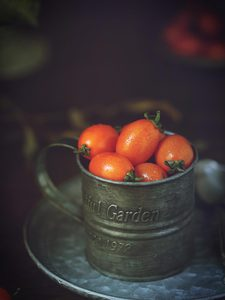 Image 2 - Iron Cup Round Iron Cup Ins Style Vintage Iron Plate Still Life Food Photography Props