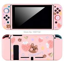Тонкий тонкий защитный мягкий чехол Nintendo Switch, милый чехол для консоли Nitendo Switch для Joy Con (прямая стыковка)