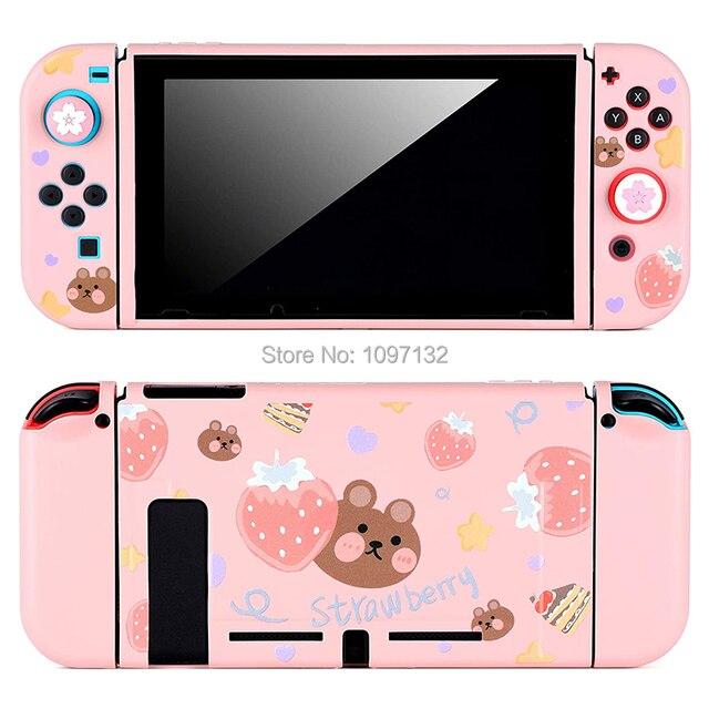 Nintendo anahtarı İnce İnce koruyucu yumuşak kılıf kapak sevimli kabuk nintendo anahtarı konsol Joy Con (doğrudan yerleştirme için)