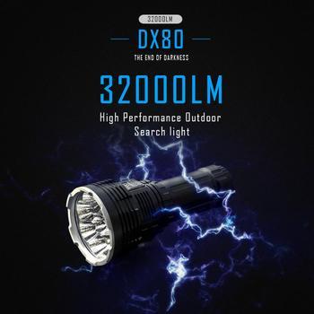 IMALENT DX80 fabrika Outlet güçlü LED el feneri CreeXhp70.2 32000 lümen Ultra parlak el feneri su geçirmez şarj edilebilir meşale