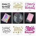 Прозрачный Гелиевый шар из ПВХ, 18 дюймов, или наклейка на день рождения, или перо, или кисточка, украшение на день рождения, свадьбу