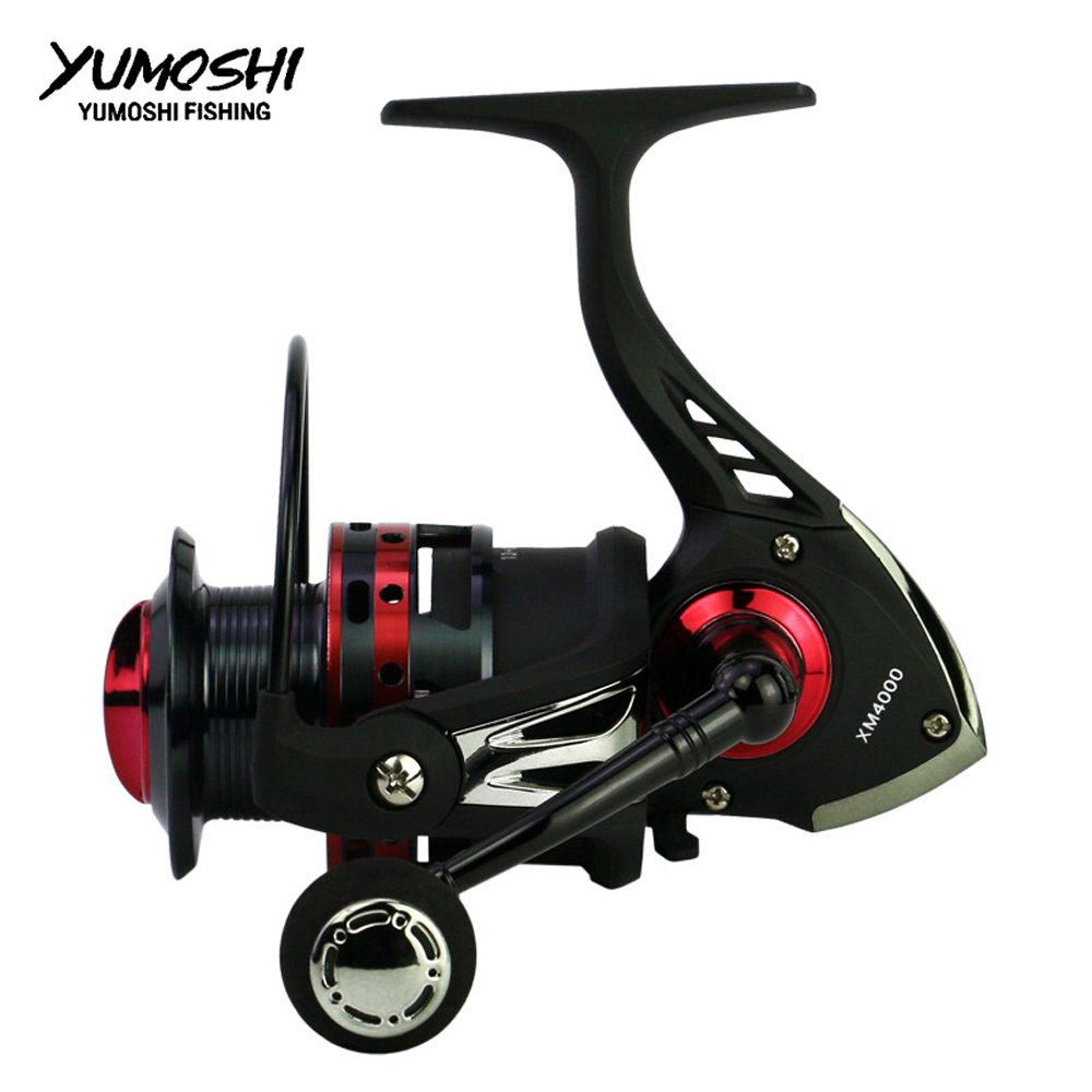 NEW YUMOSHI FISHING REEL Carbon Drag 19KG metal Spinning Reel 13+1BB 5.5:1 carp fishing reels baitcasting spinning wheel