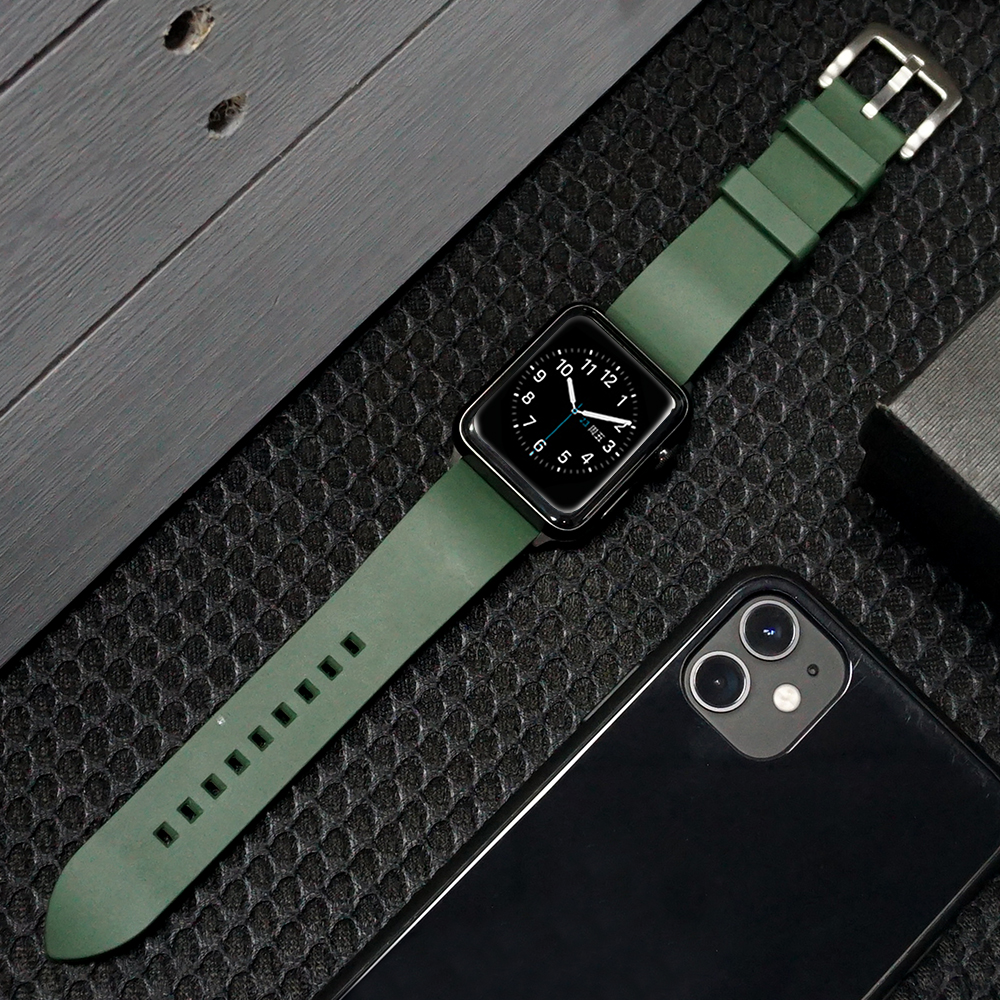 Silicone Strap For Apple Watch Band 44 Mm/40mm IWatch Band 42mm/38mm Sport Bracelet Watchband For Apple Watch 5 4 3 2 1