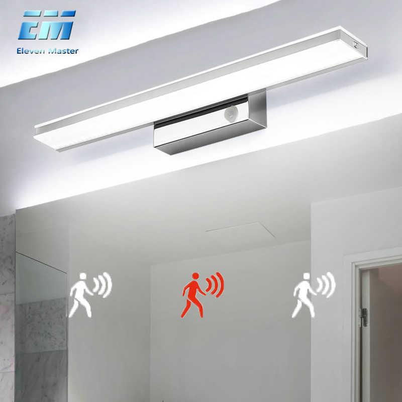 Led Mirror Light 42 52cm Pir Motion Sensor Waterproof Modern Cosmetic Acrylic Wall Lamp For Bathroom Light Sconce Lamp Zjq0005 Led Indoor Wall Lamps Aliexpress