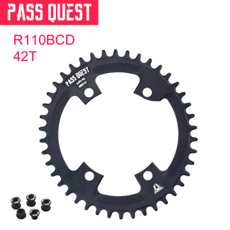 Cycling Road Bike <font><b>Chainring</b></font> <font><b>110</b></font> <font><b>BCD</b></font> 4-Claw <font><b>Oval</b></font> Plate Chainwheel Bicycle Parts image