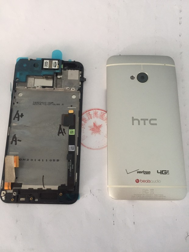 Original For Htc ONE M7 801 801E Super LCD Display Screen With Frame+Back Housing Case White