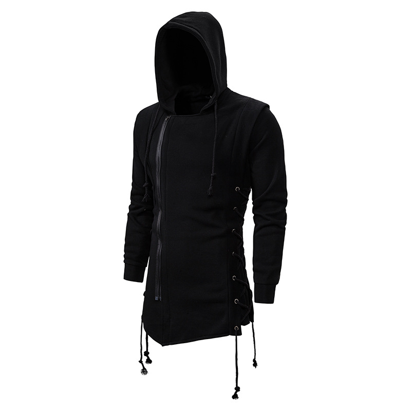 SportsX Men Hooded Loose-Fit Ethnic Style Long Sleeve Tracksuit Top
